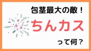ちんカスって何?【エイマガンの包茎手術体験日記